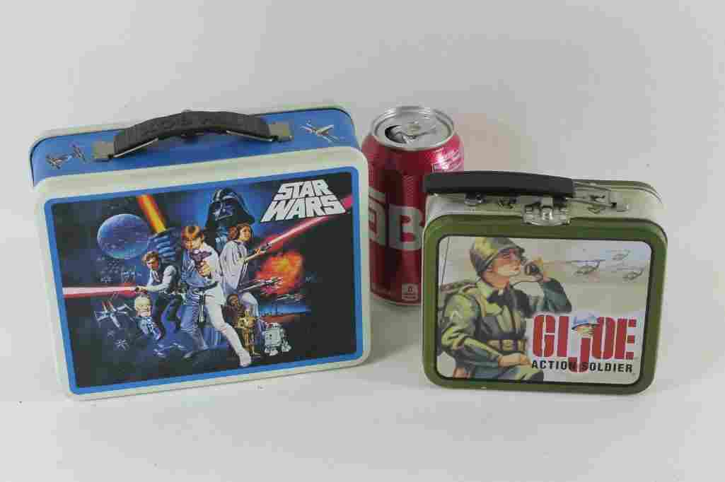 Star Wars and GI Joe Metal Lunch Boxes