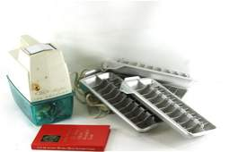 Vintage Bar Lot incl Oster Ice Crusher Ice Cube Trays