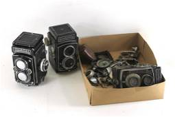 Lot of Rolleiflex and Rolleicord Cameras and Parts