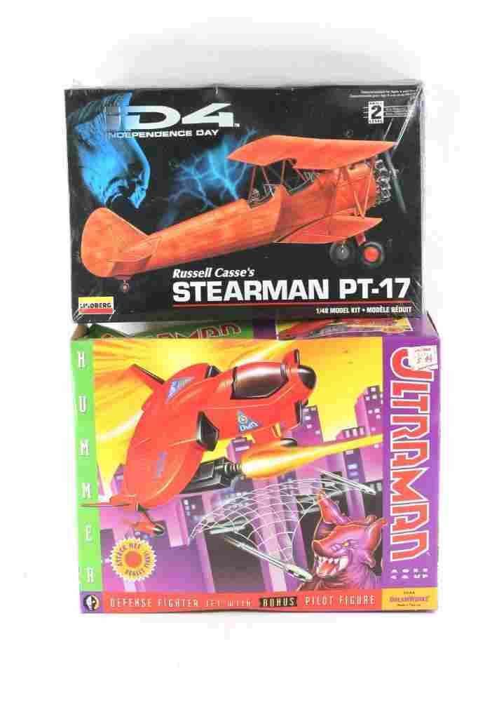 Lot of 2 Model Planes incl 1991 DREAMWORKS ULTRAMAN