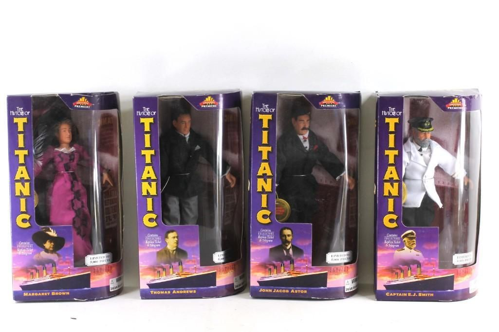 Lot of 4 The History of Titanic Figures or Dolls New in
