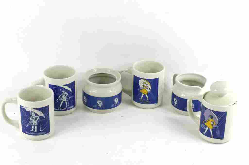 Lot of Morton Salt Advertising Items incl Mugs and a