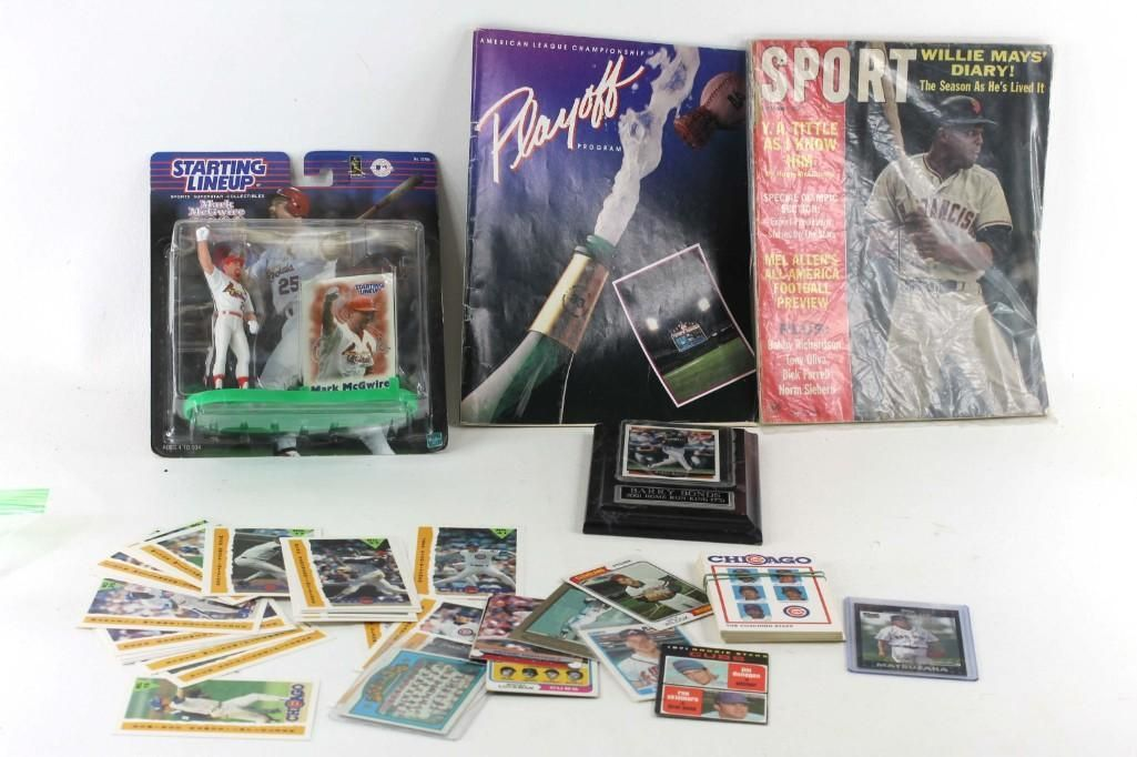 Lot of Sports Collectibles incl Baseball Cards,