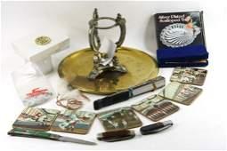 Lot of Misc incl Pocket Knives, a Fan, Rotary Club