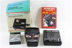 Atari Asteroids game with Box Vintage Handheld Video