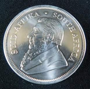 2018 South African Krugerrand 1 Oz Fine Silver