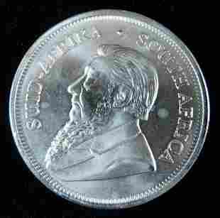 2018 BU South African Krugerrand 1 oz Fine Silver
