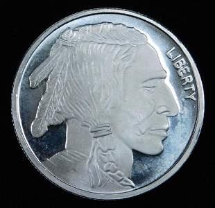 Buffalo Indian Head Round 1 oz 999 Pure Silver