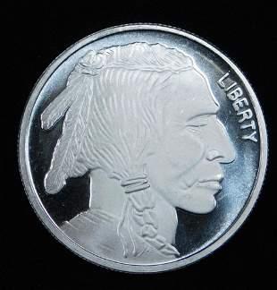 BU Buffalo Indian Head 1 oz Silver Round 999 Fine