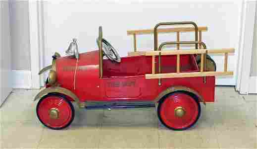 Red Fire Department Pedal Car