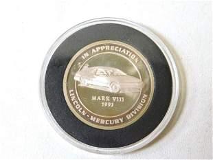 Lincoln Mark VIII Award Token