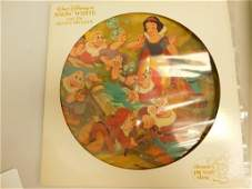 Disney LP Record Picture Record Snow White and The 7