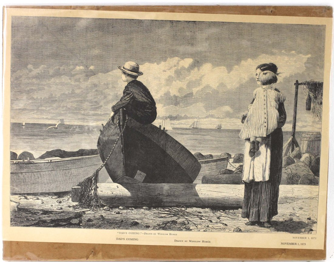 "Winslow Homer Wood Engraving "" Dad"