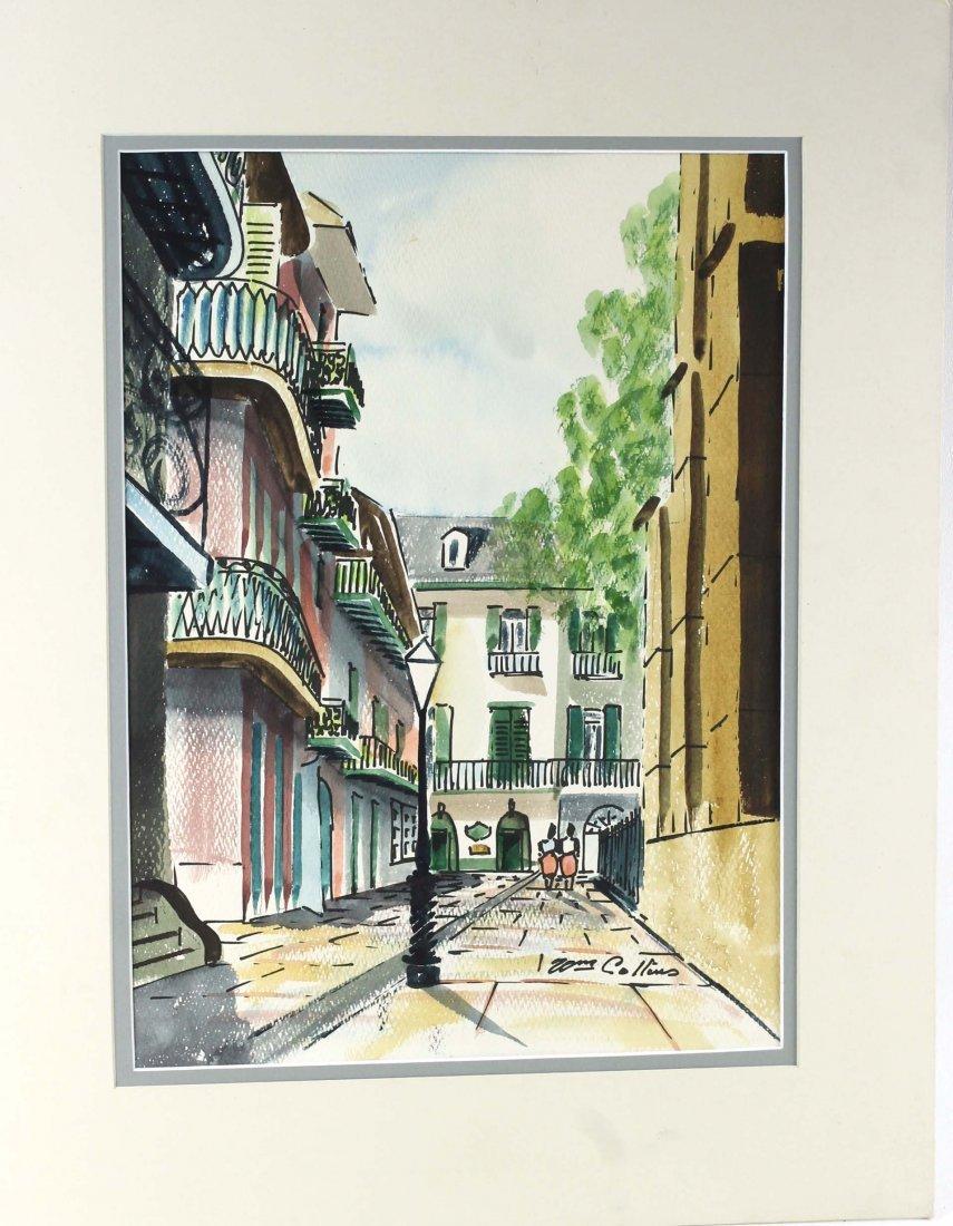 William Collins Original Watercolor New Orleans