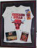 Chicago Bulls Framed Collectors Lot including Jordan