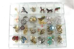 Lot of Vintage Costume Jewelry incl Earrings and Pins