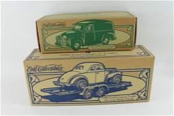 Lot of 2 Ertl Die Cast Metal Cars incl 1951 GMC Panel