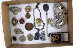 Lot of Vintage Costume Jewelry incl Brooches and