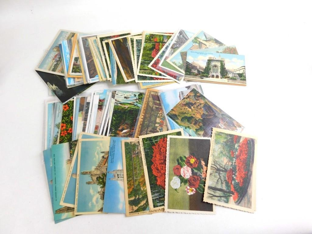 Large Lot of Vintage Post Cards Many are Linen
