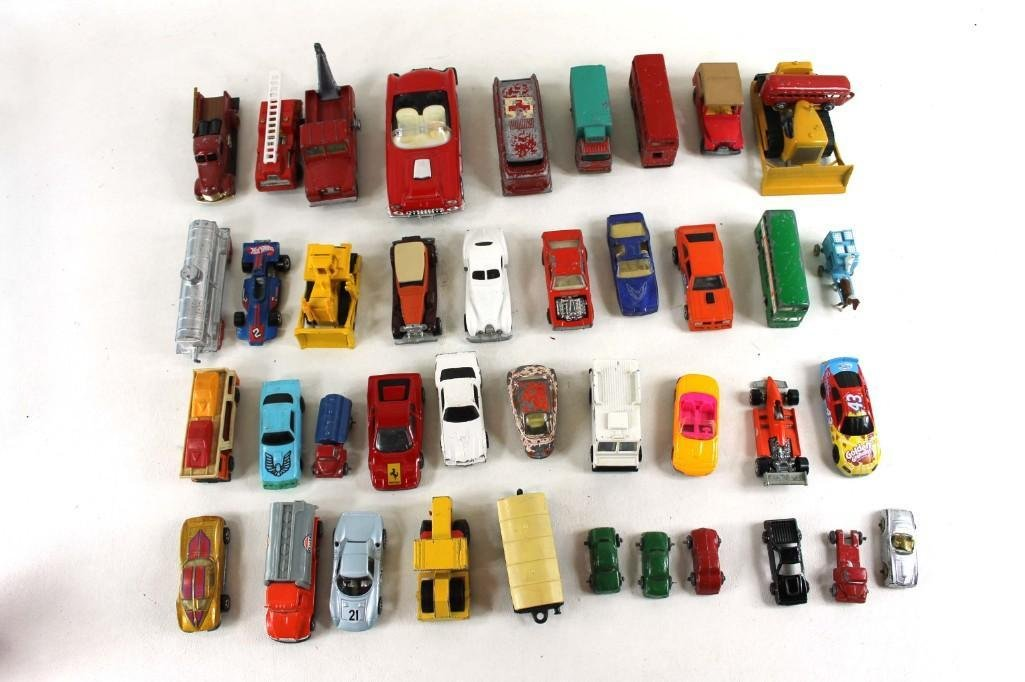 Lot of Vintage Toy Cars and Trucks incl Corgi ,