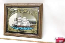 Cutty Sark Scotch Framed Advertising Bar Mirror
