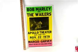 Bob Marley and The Wailers Apollo Theater Poster