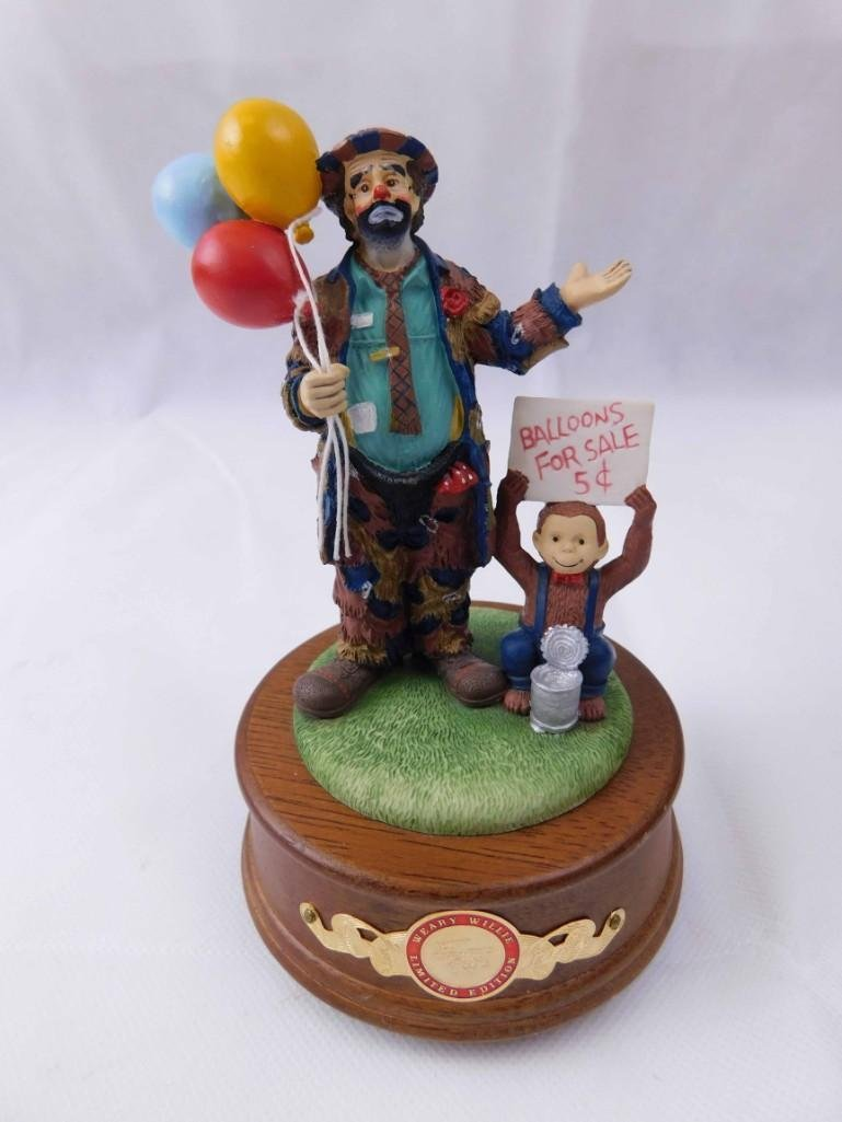 Emmett Kelly Balloons For Sale Music Box Weary Willie