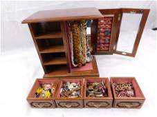 Large Jewelry Box Filled with Costume Jewelry incl