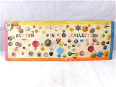 Pin Back Button Collection incl Political , Advertising