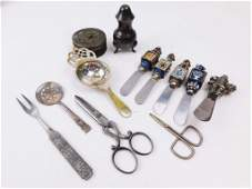 Lot of Vintage Smalls incl Table Lighter Scissors