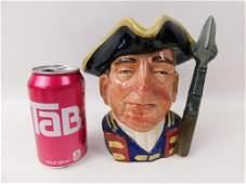 Large Royal Doulton Guardsman Character Jug or Toby Mug