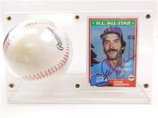 1981 Topps #450 Dave Kingman All Star Card & Signed