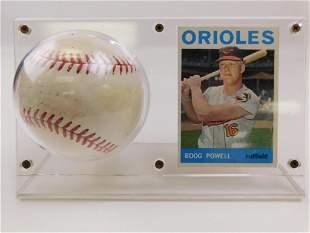 1964 Topps #89 Boog Powell Card & Signed Baseball