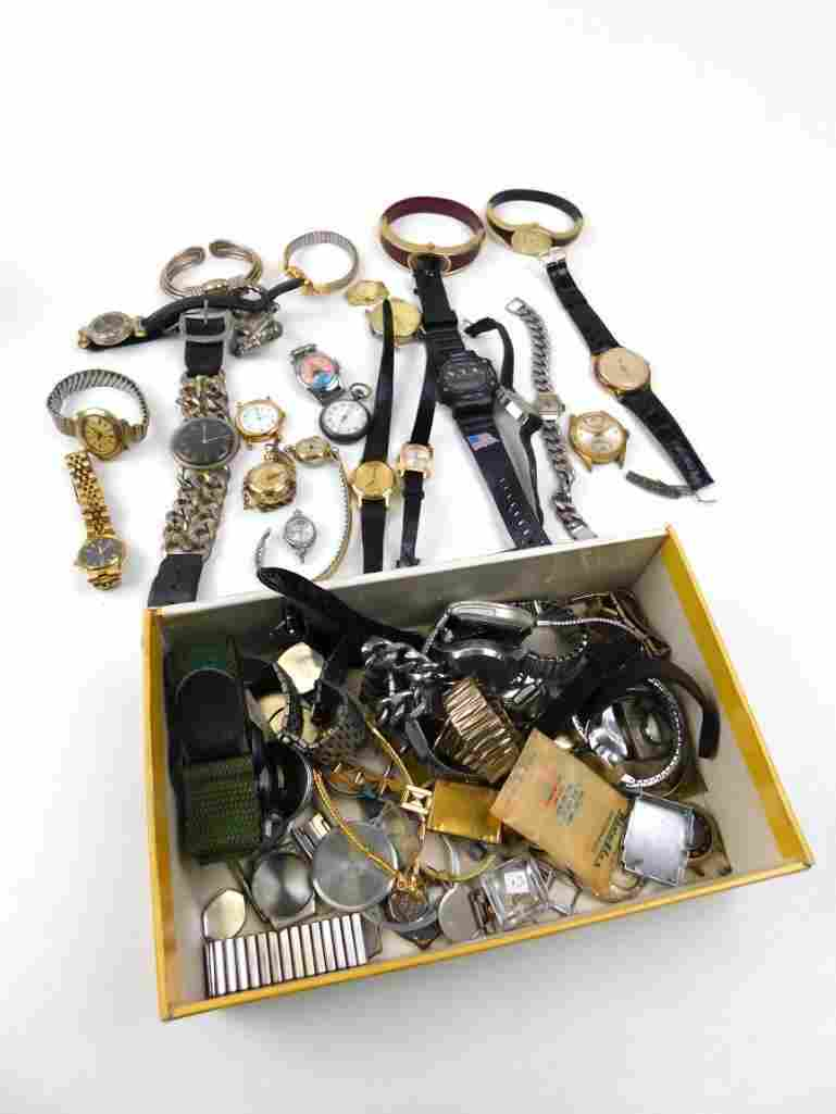 Lot of Watches and Watch Parts and Pieces