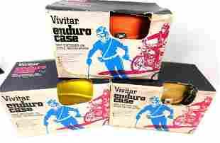 Three Vivitar Enduro Camera Cases