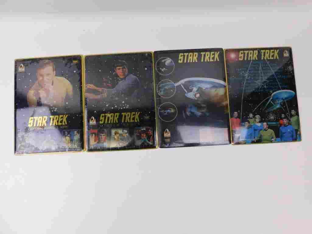 Set of 4 Star Trek TOS Team Metal Wall or Table