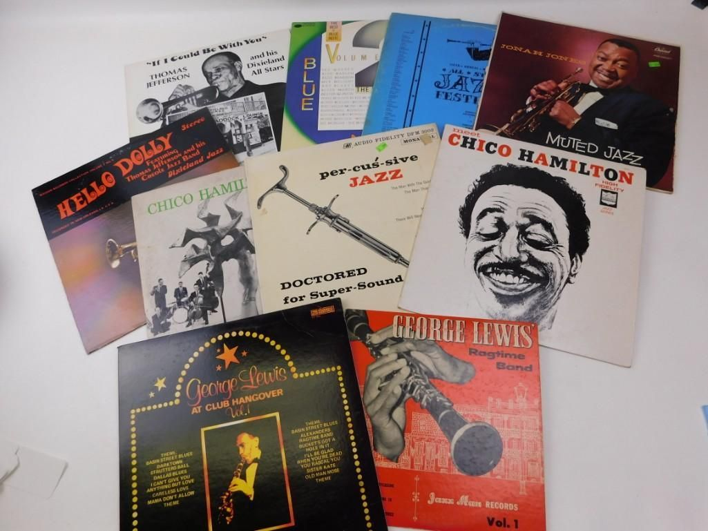 Lot of LP Vinyl Jazz Records- Includes Best of Blue