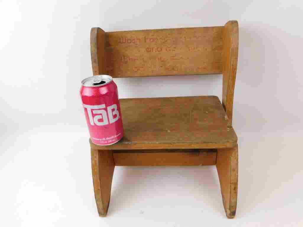 Small Vintage Child's Chair or Step Stool