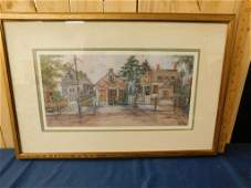 Framed and Matted Lucretia Restrepo Print of a