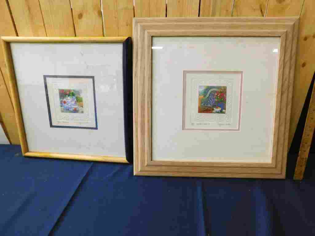Lot of 2 Framed and Matted Prints Pencil Signed and