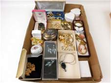 Lot of Vintage Jewelry Watches and Smalls incl a