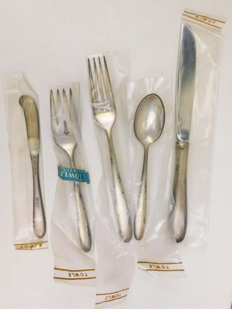Towle Madeira 5 Pc Place Setting Sterling Silver NOS
