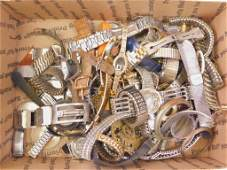 Lot of Watch Parts and Pieces for Repairs