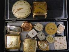 Lot of Vintage Watch Parts and Pieces for Repair or