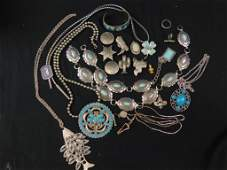 42 Lot of vintage Costume Jewelry Southwestern Theme