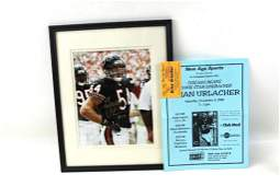 Framed Photo Signed Brian Urlacher NO COA includes
