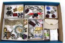 Lot of Vintage Costume Jewelry Plus a Coin Purse