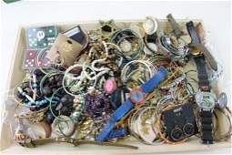 Lot of Costume Jewelry  Watches  And Smalls