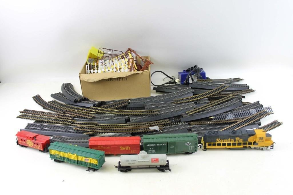 Model Train Cars , Track , and Engine , Etc