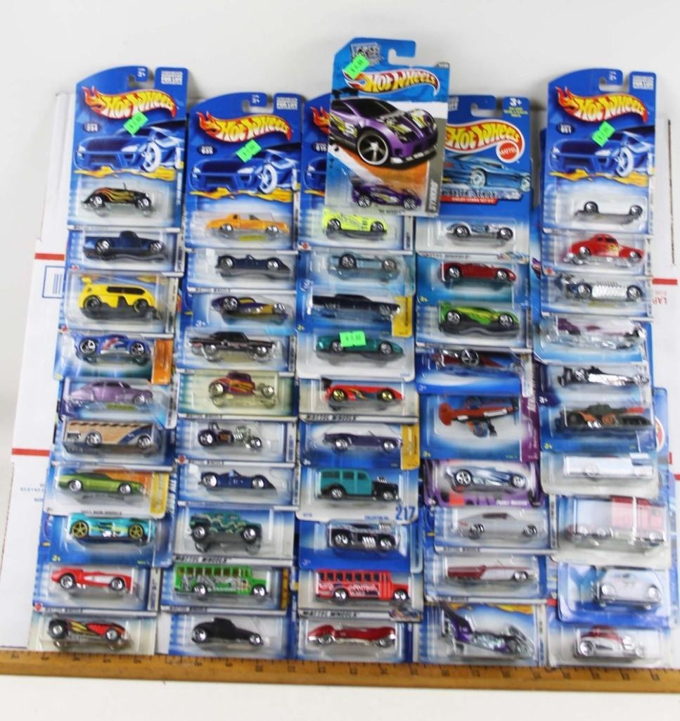 Lot of Approx 50 Hot Wheels Cars New in Package